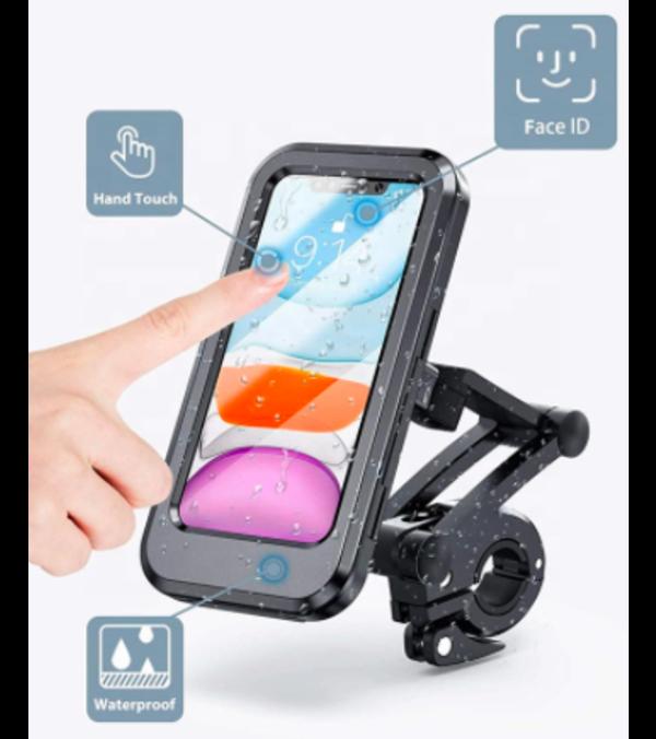 Soporte para celular para motos o bicicletas, waterproof, pantalla táctil.