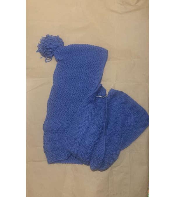 bufanda con gorro en lana (a235)