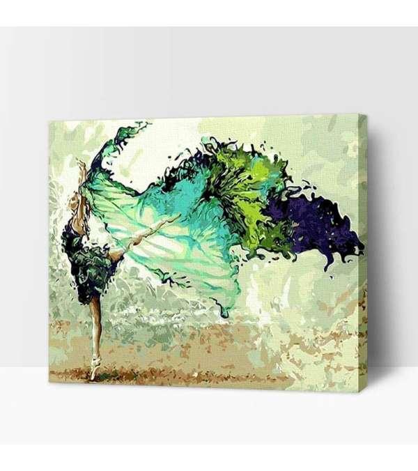 Bailarina de tonos verdes
