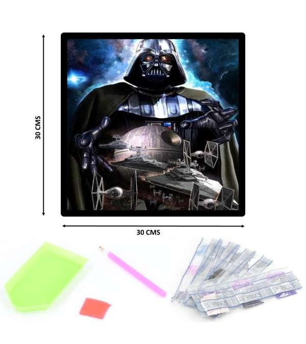 Pintura de Diamantes Diamond Painting Darth Vader 30x30 cms