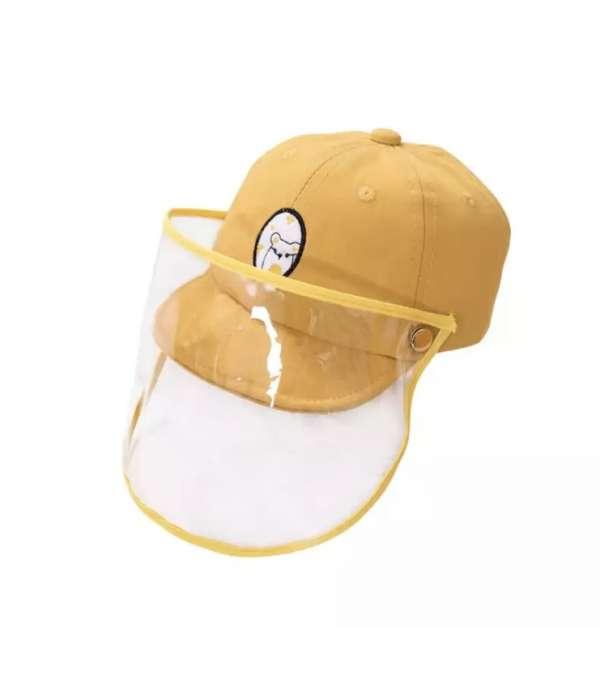 Jockey con Máscara Facial para Bebé - Amarillo