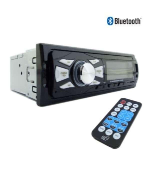 Radio dezzer iluminación azul bt, aux, usb