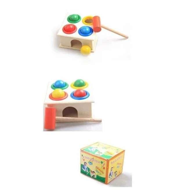 Caja de Martillo de Bola de Madera, novedoso Juego de martilleo para niños Aprendizaje temprano Juguete Educativo