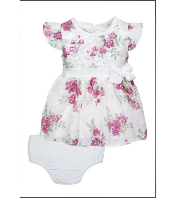 Vestido Bebe Luisa Burdeo 3m, Limonada
