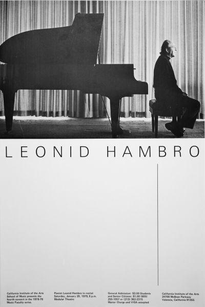 CalArts poster: Leonid Hambro by