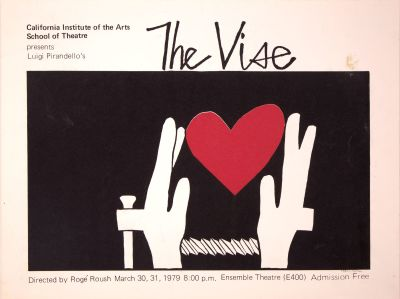 CalArts poster: The Vise by Peter Levine