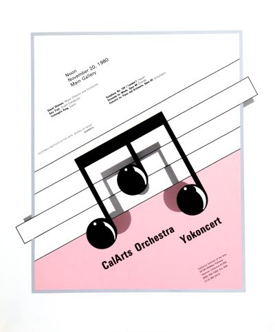 CalArts poster: CalArts Orchestra Yokoncert by