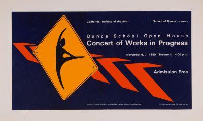 CalArts poster: Dance School Open House: Concert of Works in Progress by
