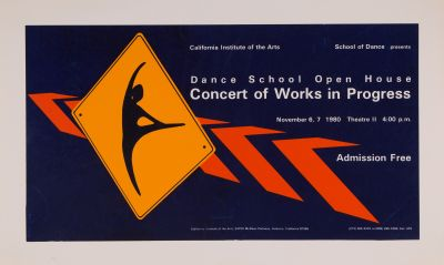 CalArts poster: Dance School Open House: Concert of Works in Progress by