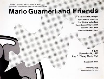 CalArts poster: Mario Guarneri and Friends by Ron Romero