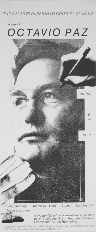 CalArts poster: Octavio Paz by