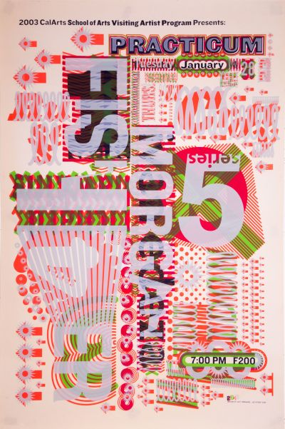 CalArts poster: 2003 Practicum Series by Jae-Hyouk Sung Matthew Normand