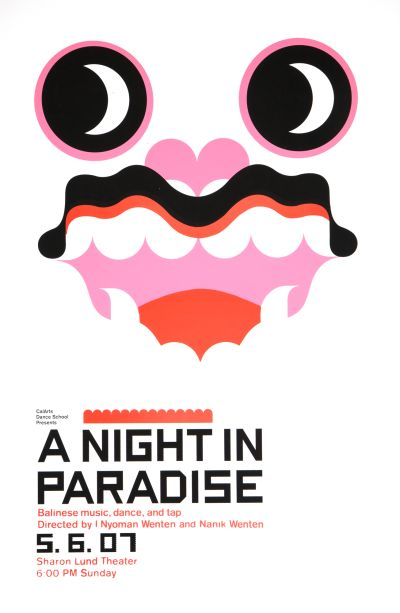 CalArts poster: A Night In Paradise by Aaron Vinton