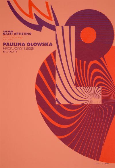 CalArts poster: Paulina Olowska by Eli Carrico Yasmin Khan