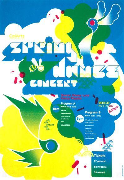 CalArts poster: 2006 Spring Dance Concert by MacGregor Harp
