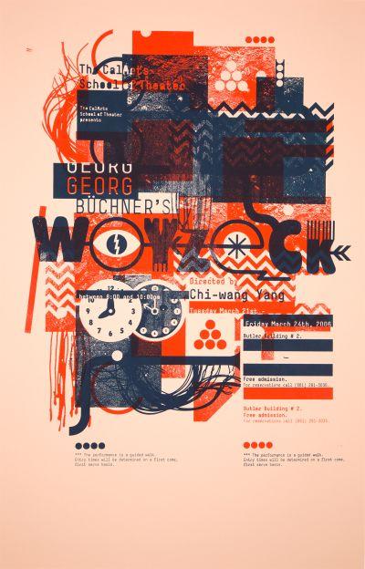 CalArts poster: Woyzeck by Florencio Zavala