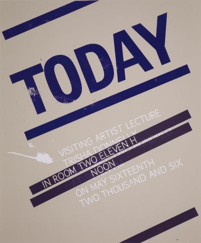 CalArts poster: Trisha Donnelly – Today by