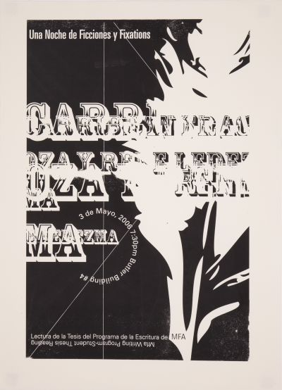 CalArts poster: Una Noche de Ficciones y Fixations by