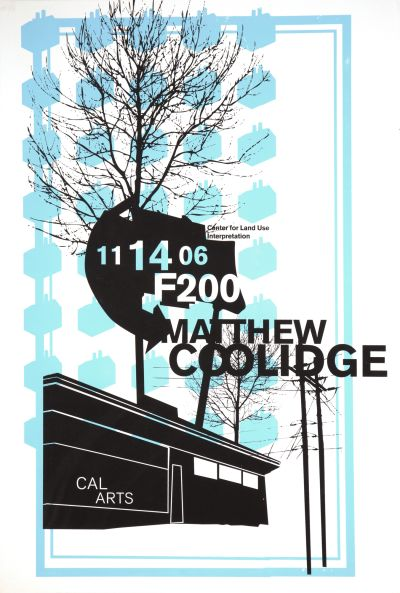 CalArts poster: Matthew Coolidge by
