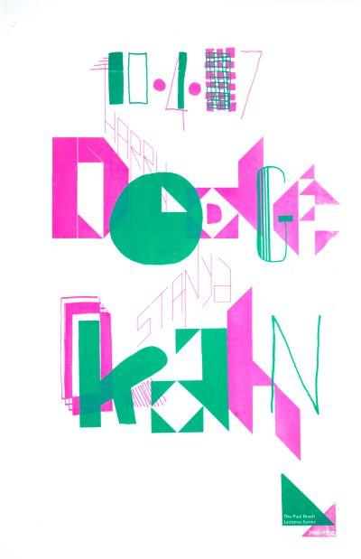 CalArts poster: Harry Dodge & Stanya Kahn by Colleen Corcoran Julie Mattei