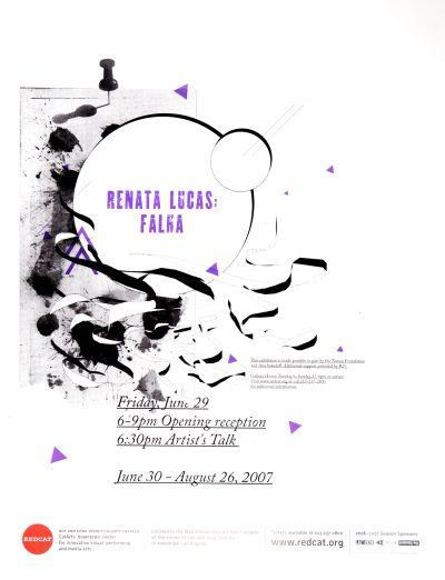 CalArts poster: REDCAT: Renata Lucas by Joel Evey