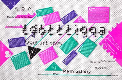 CalArts poster: Queer Arts Collective: LGBTTTIQQA by Kurtis Kennington