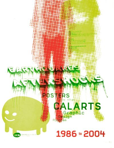CalArts poster: Earthquakes & Aftershocks by Christine Lee