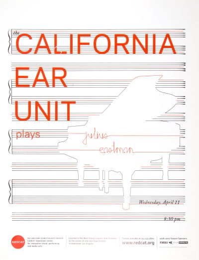 CalArts poster: REDCAT: California Ear Unit by Nikelle Orellana