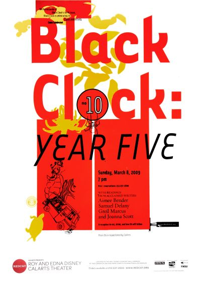 CalArts poster: REDCAT: Black Clock: Year Five by Benjamin Segall Lorin Brown