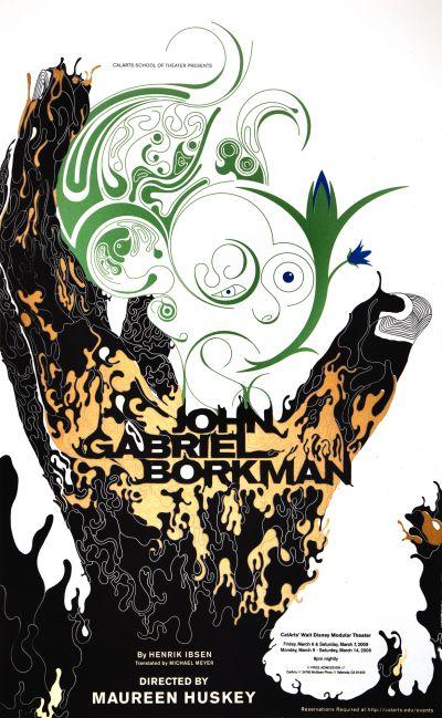 CalArts poster: John Gabriel Borkman by Daryn Wakasa Devin Dailey