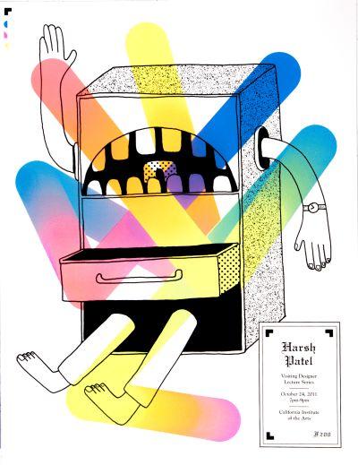 CalArts poster: Harsh Patel by Scott Massey Stefano Giustiniani