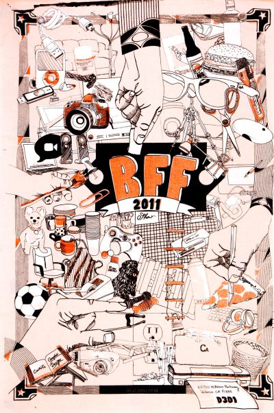 CalArts poster: BFF, collaboration by BFA4 class 2011 by