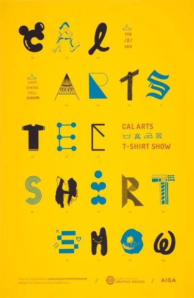 CalArts poster: 2012 CalArts Tee Shirt Show by Christopher Burnett