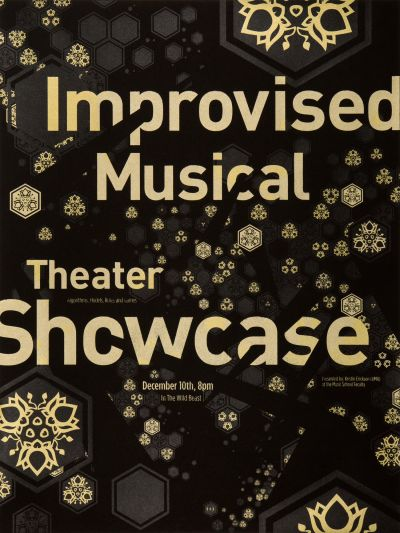CalArts poster: Improvised Musical Theater Showcase by Jono Freeman