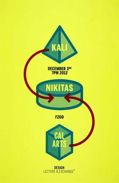 CalArts poster: Kali Nikitas by Izaak Berenson