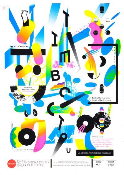CalArts poster: REDCAT: Martin Acosta by Scott Massey
