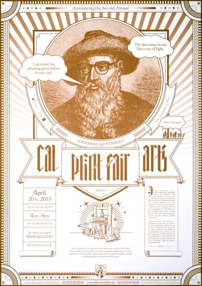CalArts poster: 2013 CalArts Print Fair by Bijan Berahimi Christopher Burnett