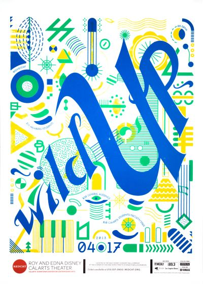 CalArts poster: REDCAT: Wild Up by Dasom Kim Lorena Reyes
