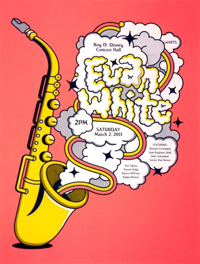 CalArts poster: Evan White by Christopher Burnett