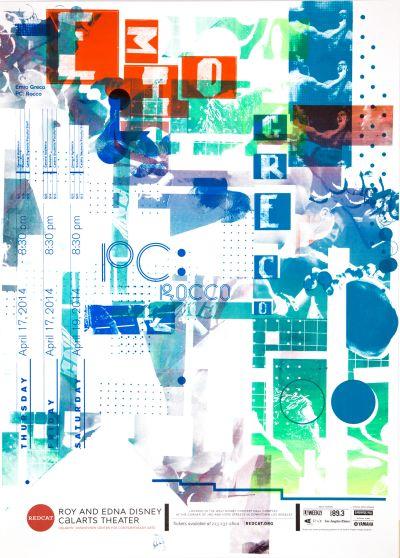 CalArts poster: REDCAT: Emio Greco by Angela Bac David Chathas