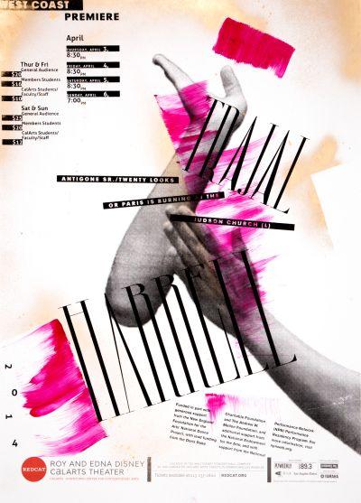 CalArts poster: REDCAT: Trajal Harrell by Brian Thompsen David Chathas