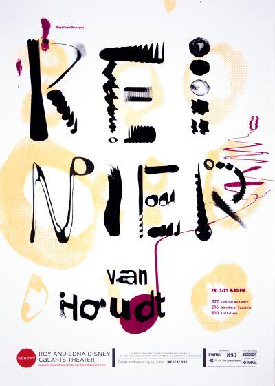 CalArts poster: REDCAT: Reinier van Houdt by Andrea Juhie Kim Garrett Chung