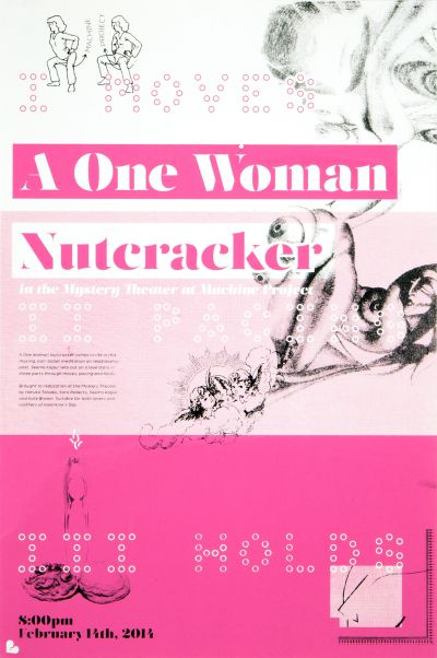 CalArts poster: A One Woman Nutcracker by Alex Ketchakmadze