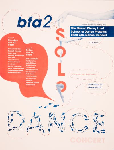 CalArts poster: 2014 BFA 2 Solo Dance by Jessica Lee