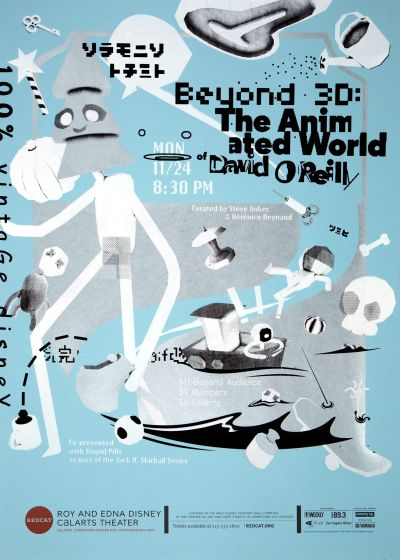 "CalArts poster: REDCAT: ""Beyond 3D: The Animated World"" by Jack Mulholland Jon Jacquet"
