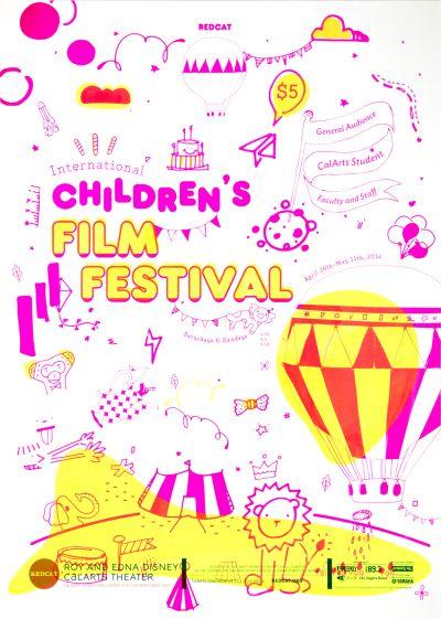 CalArts poster: REDCAT: 2014 Children's Film Festival by Herim Shin Hyunsoo Cho