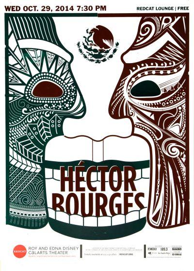 CalArts poster: REDCAT: Hector Bourges by Katie Barger Miyu Shirotsuka