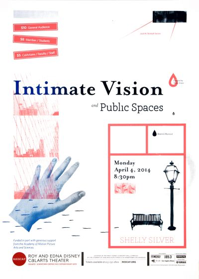 CalArts poster: REDCAT: Intimate Vision and Public Spaces by Andrea Juhie Kim Jenny Song