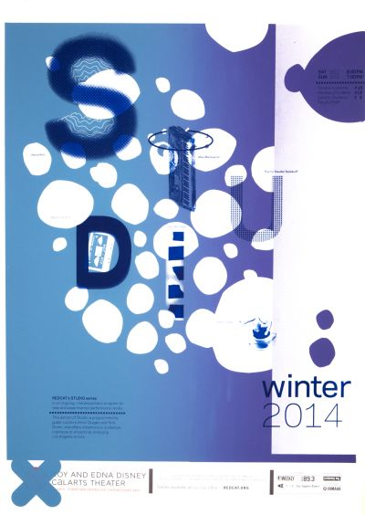 CalArts poster: REDCAT: 2014 Winter STUDIO series by Brian Thompsen Jenny Song