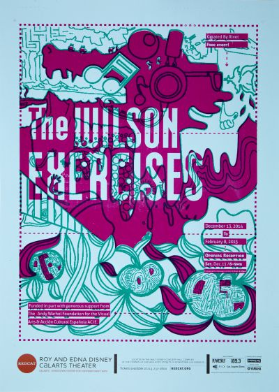 CalArts poster: REDCAT: The Wilson Exercises by Brian Thompsen Miyu Shirotsuka